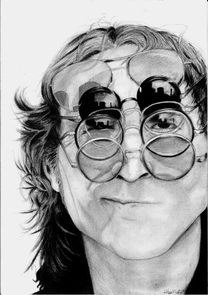 John Lennon by Mortisha